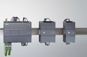 Photo of Siemens Simatic S7-1200 PLC.
