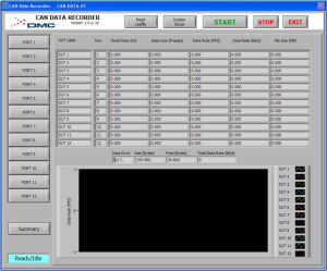 CAN Recorder User Interface