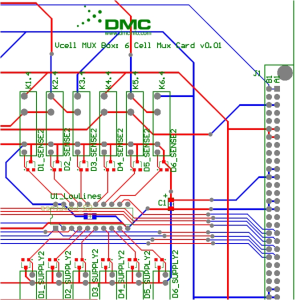 Multiplexer Card PCB Electrical Schematic