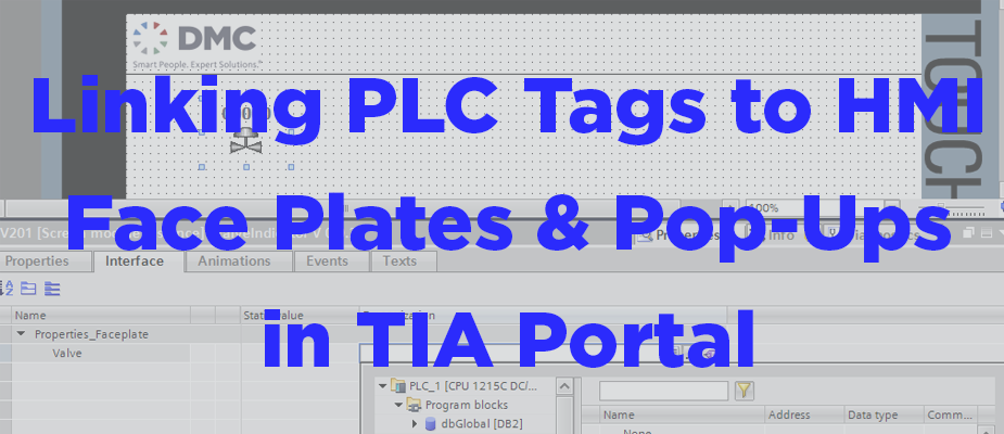 Linking PLC UDT Tags to HMI Faceplates and Pop-ups in TIA
