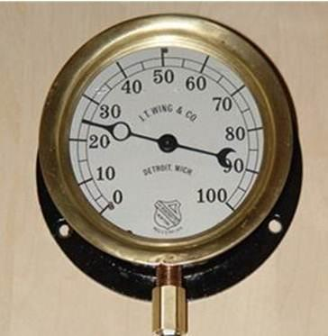 Resurrecting The Antique Pressure Gauge To Display Internet Bandwidth