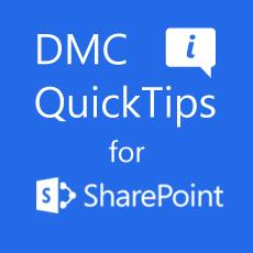 DMC QuickTip #4 - Uploading Folders to SharePoint 2013