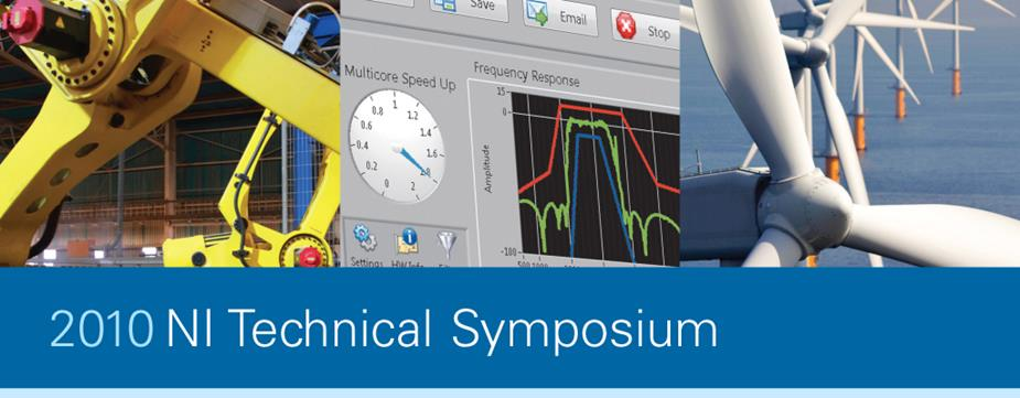 DMC exhibiting at the National Instruments Technical Symposium