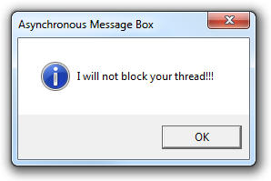 Asynchronous Message Box in WPF