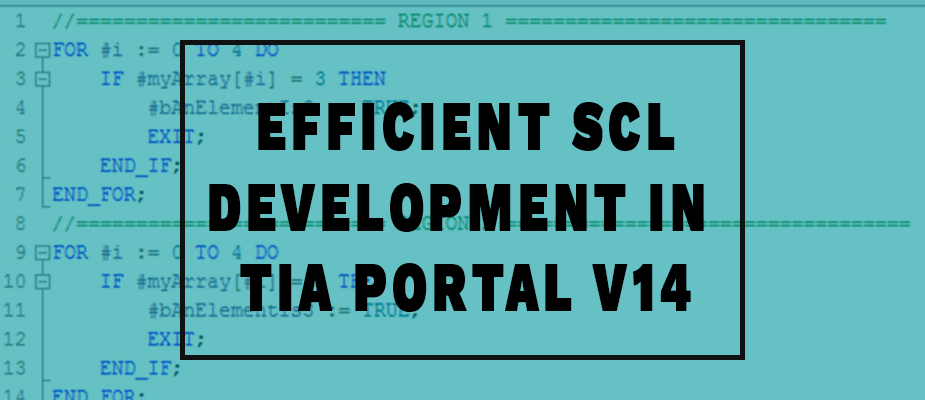 Efficient SCL Development in TIA Portal V14