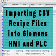 Importing CSV Recipe Files into Siemens HMI and Iteratively Downloading Multiple Data Records from HMI into PLC