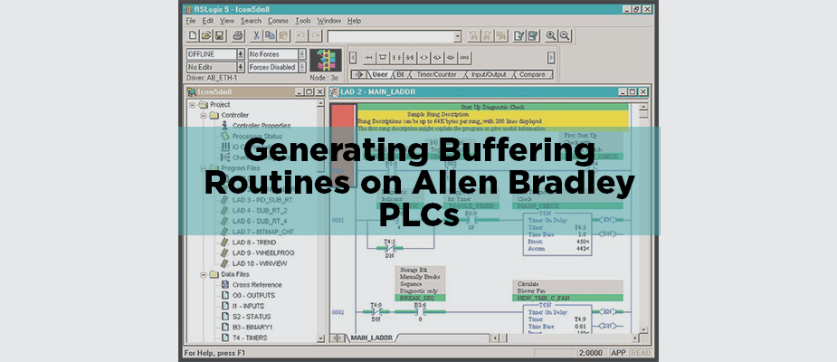Generating Buffering Routines on an Allen Bradley PLC Using Excel Macros