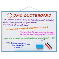 DMC Quote Board - May 2016