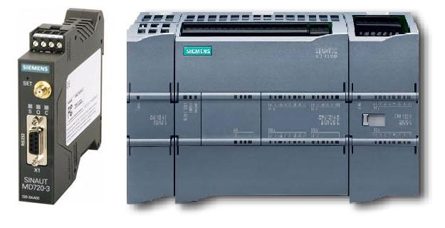 Siemens S7-1200 PLC communicates through Sinaut MD720-3 cellular modem