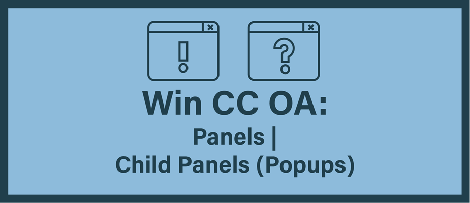 Getting Started With WinCC OA: Part 11 - Panels | Child Panels (Popups)