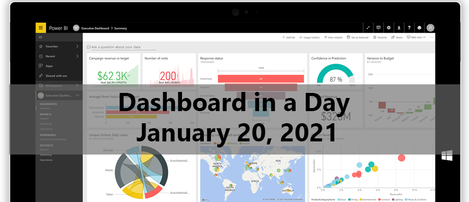 Virtual Dashboard in a Day January 20, 2021