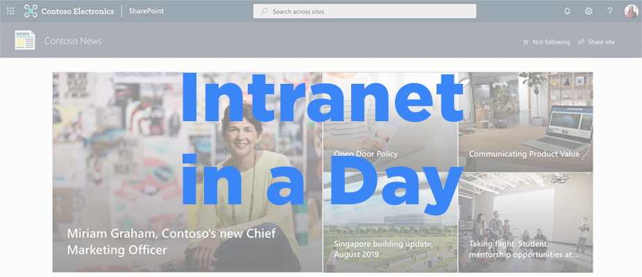 DMC's SharePoint Intranet in a Day