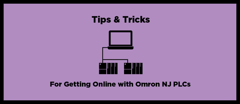 Getting Online with Omron NJ PLCs