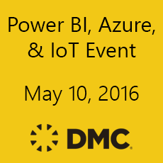 DMC's Power BI, Azure, and Azure IoT Event