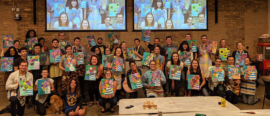 Wine & Paint to Welcome New Employees