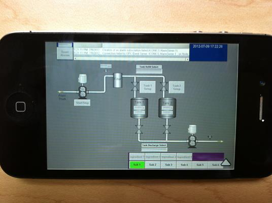 Using an iPhone to Control a Factory