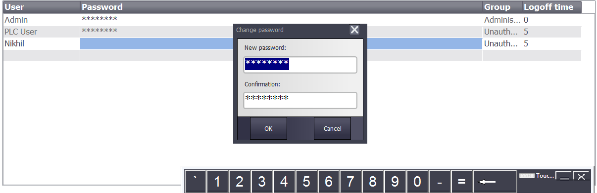 Touch card to RFID reader to populate password field