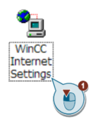 WinCC Internet Settings icon