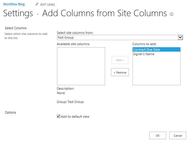 Site Columns added to document libraries