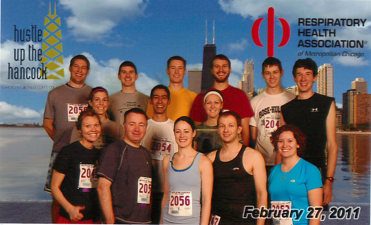 Team DMC Hustle Up the Hancock 2011