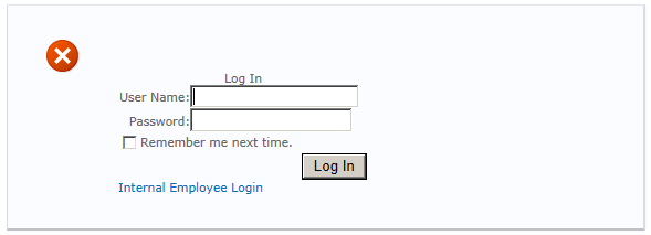Custom Mixed Mode Login Page