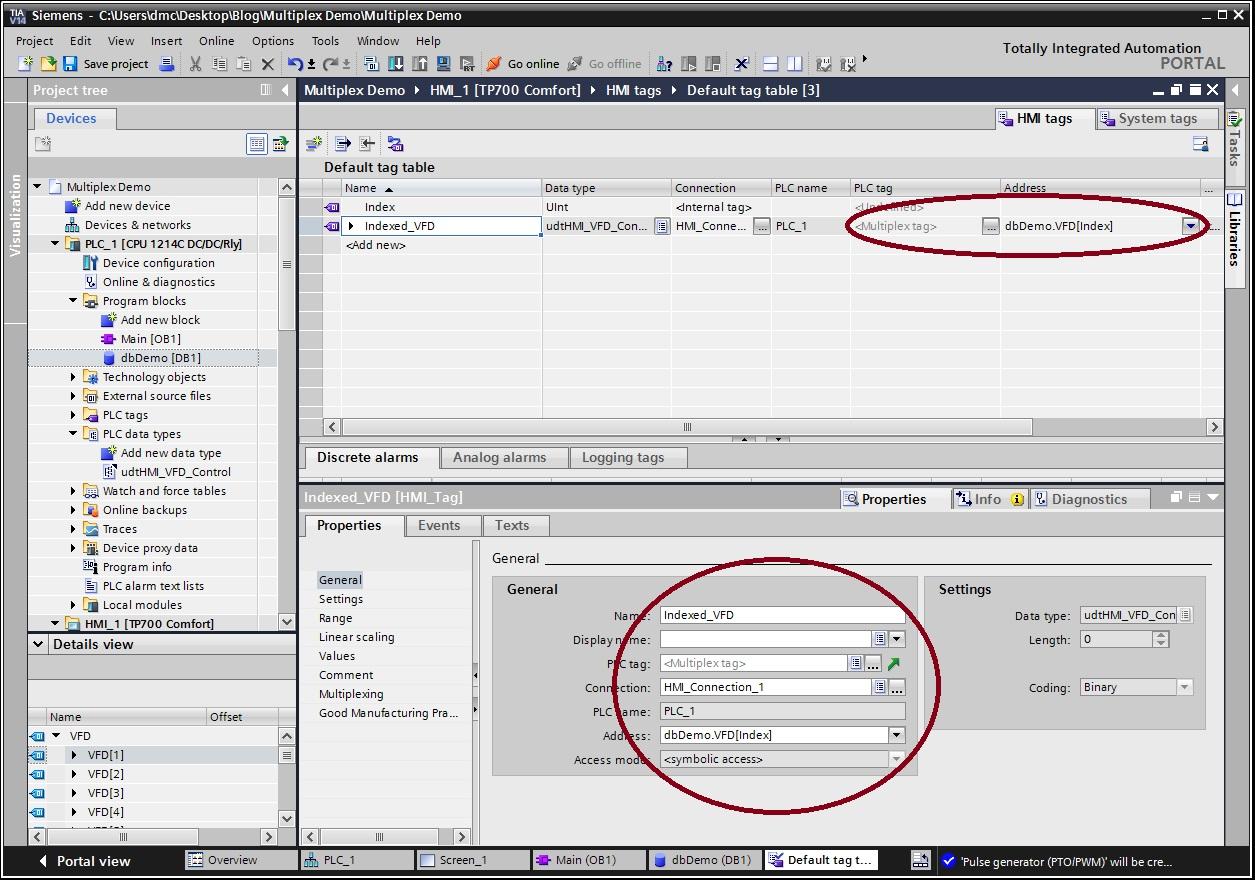 Multiplexing Arrays of UDTs in TIA Portal V14 | DMC, Inc