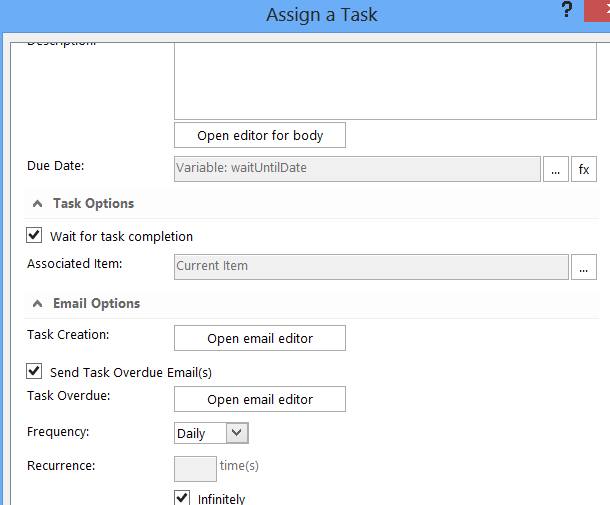 Assign a task