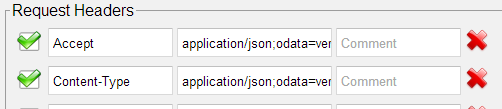HTTP Request Headers for JSON SharePoint API