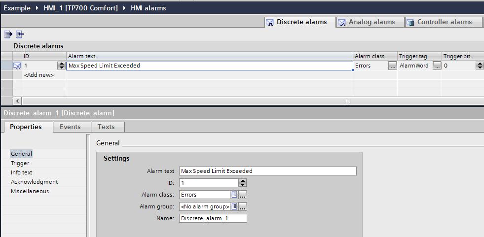 Customizing HMI Alarm Text in TIA Portal   DMC, Inc