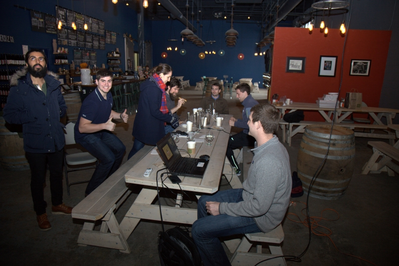 DMC Boston held their morning trainings at Night Shift Brewery.