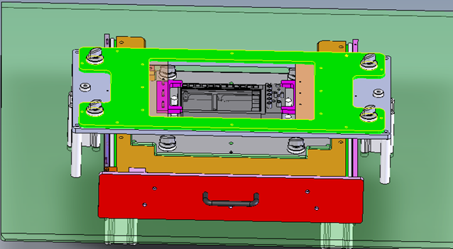 CAD model of DUT fixturing