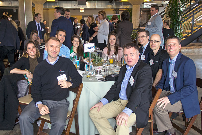 Photo of DMC employees at the 2017 Crain's Chicago Best Places to Work Awards