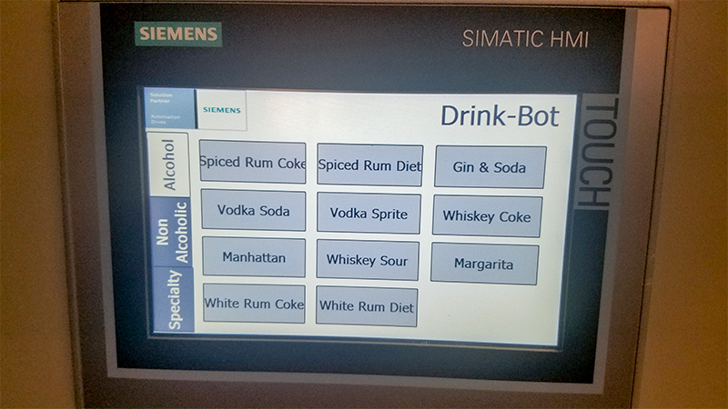 DMC DrinkBot Comfort Panel Screen.