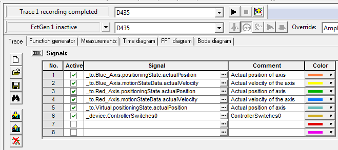 Simotion Device Trace Configuration