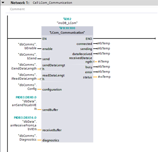 Using the Siemens LCom Library for TCP Communication on S7 PLCs