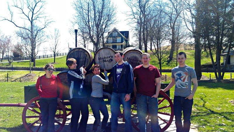 DMC employees at the Marker's Mark brewery.