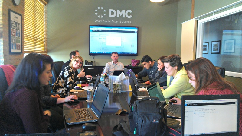 DMC Chicago's Administrative Team learns to use OneDrive with Director of Consulting Services Rick Rietz.