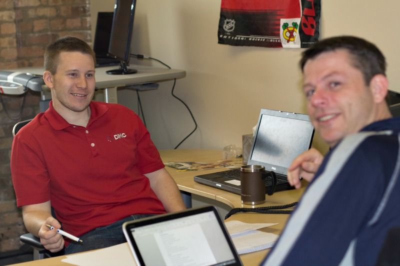 David and Rick work on Office 365 initiatives for their Fed Ex Day Project.