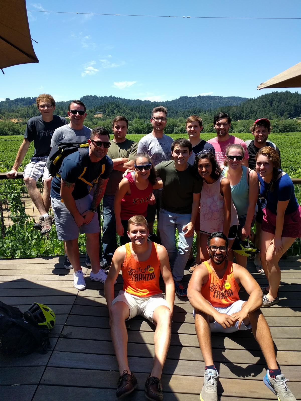 Sonoma Wine Tasting Group Shot