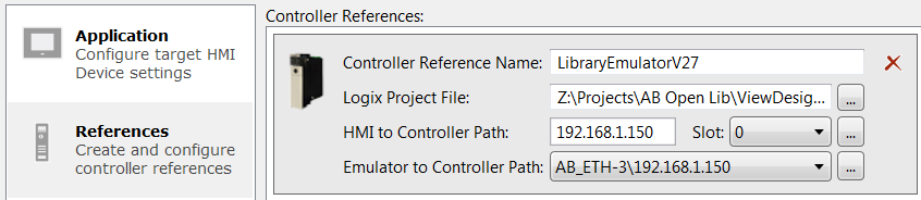 Project Properties - Linking a controller and Logix project