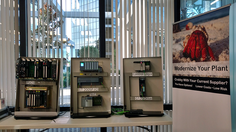 Booth image from E&M Road Show 2016 - Siemens and Allen-Bradley PLCs