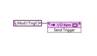 NI 9469 module invoke node for sending triggers from a master