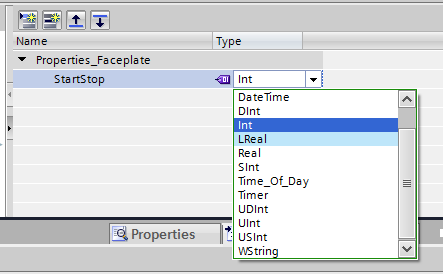 Creating a StartStop property for the Faceplate