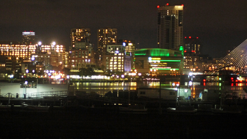 View of Boston from Pier 6 restaurant