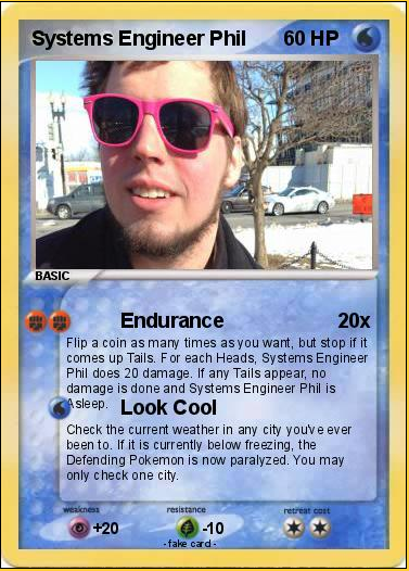 Systems Engineer Phil Pokemon Card