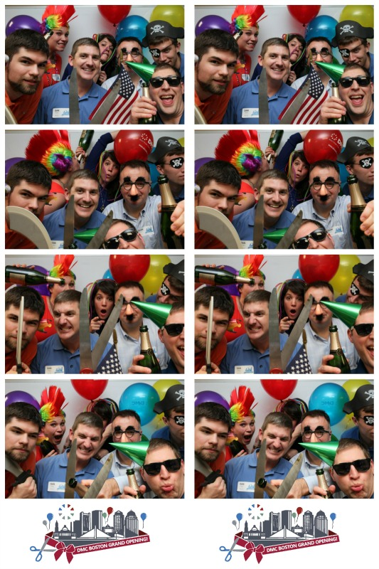 DMC gets the silliest in the photo booth.