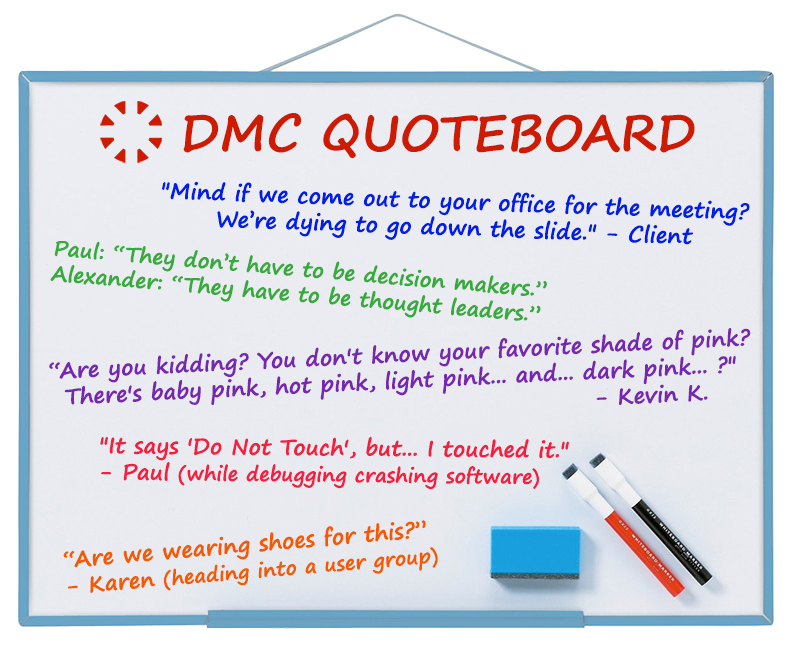 DMC April 2019 Quote Board
