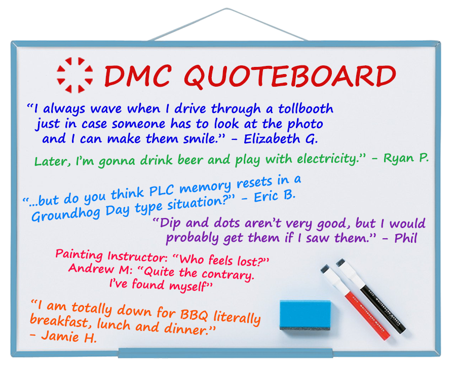 DMC's best quotes from Sept 2019