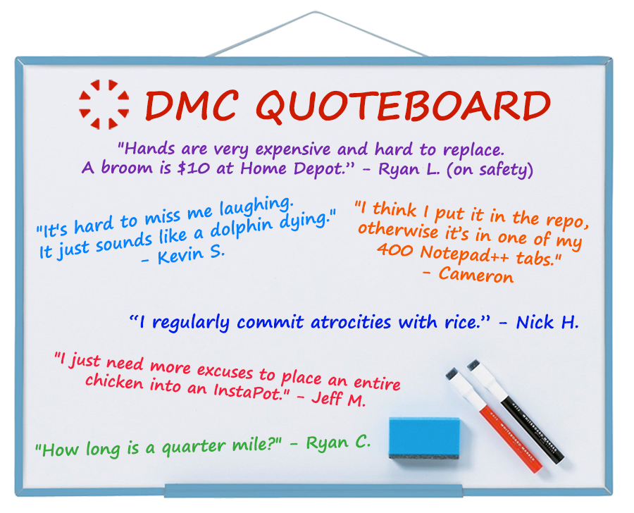 DMC quote board for October 2019