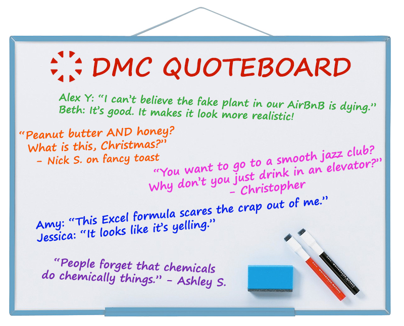 DMC's best office quotes from March 2018